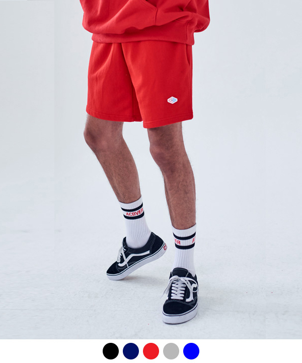 [7월26일예약배송]WAPPEN S BASIC SWEAT SHORTS