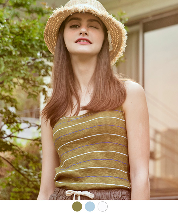 SUMMER STRIPE SLEEVELESS