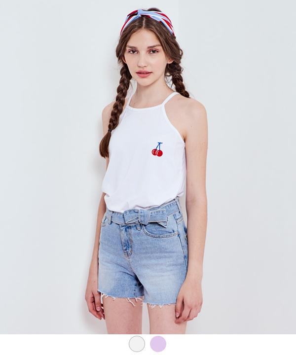 CHERRY COKE SLEEVELESS