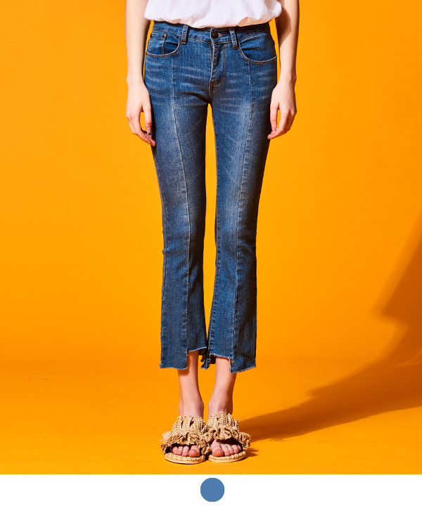 CUTTING LINE DENIM PANTS